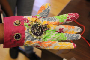 A glove device at the Wearable device challenge