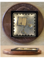 Custom ultra-low-power system on chip used to detect ECG signals on ASSIST's wearable platforms.