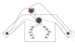 Shirt with a sensor