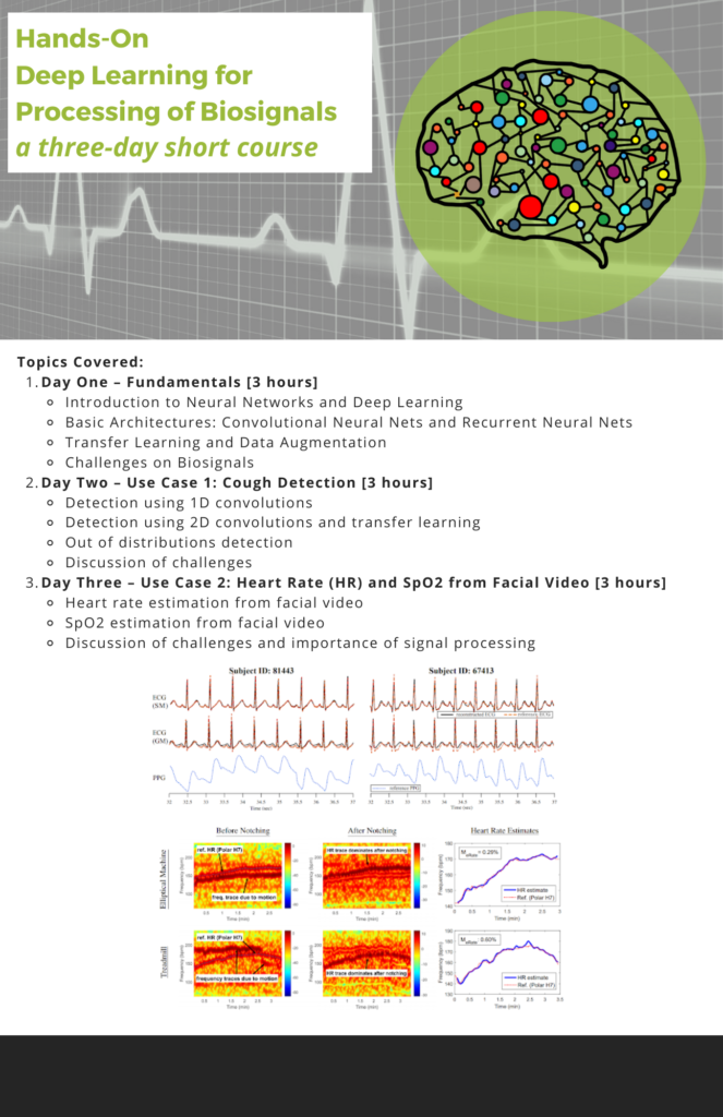 Description for ASSIST short course, Hands-On Deep Learning for Processing of Biosignals